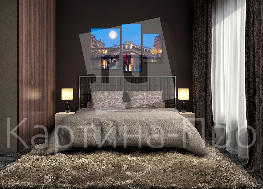 Модульная картина Ночь над Венецией (Италия) от Kartina-Pro