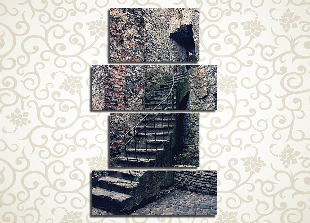 Модульная картина Винтажная каменная лестница