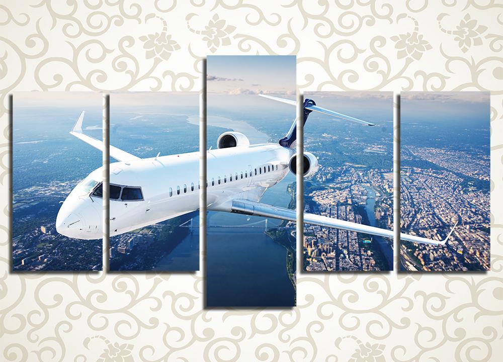 Модульная картина Личный реактивный самолет