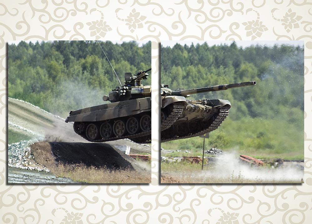 Модульная картина Танк Т-90