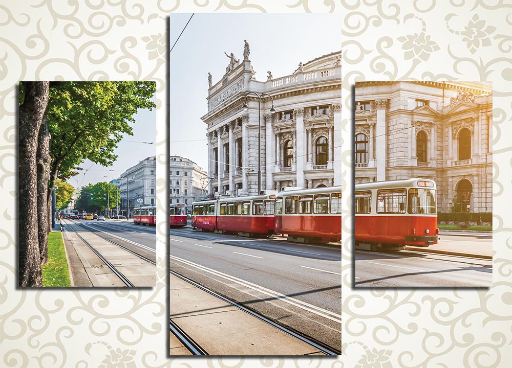 Модульная картина Старинный трамвай в Вене