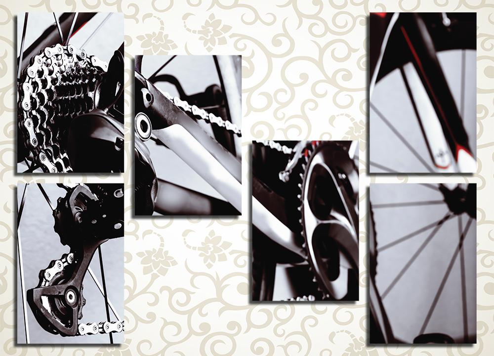 Модульная картина Велосипедная цепь