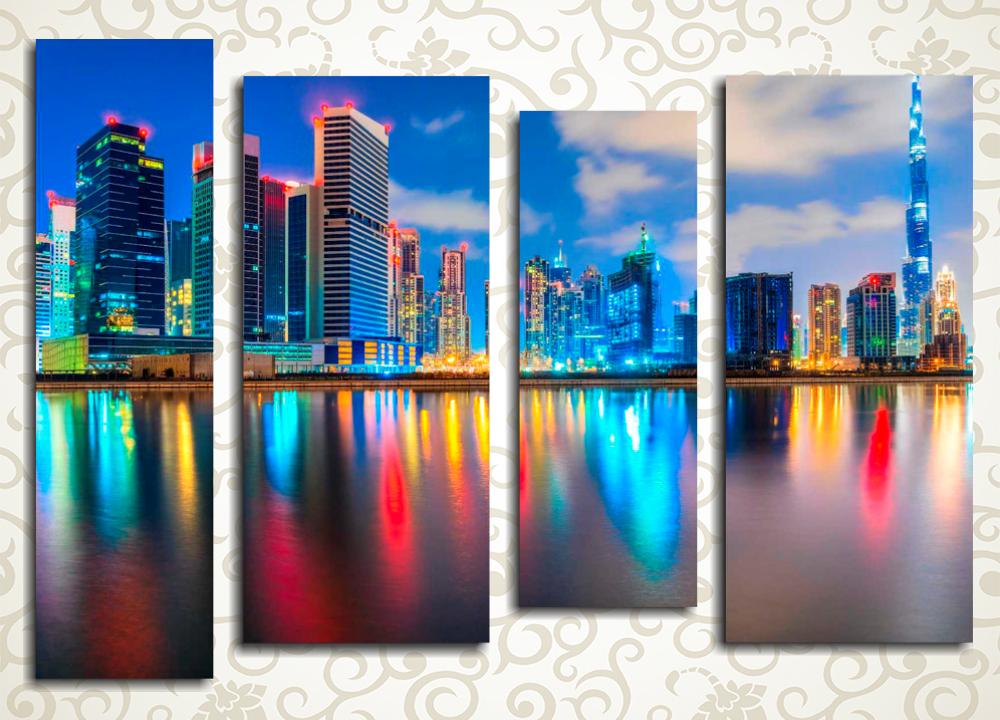 Модульная картина Вечерний Дубай