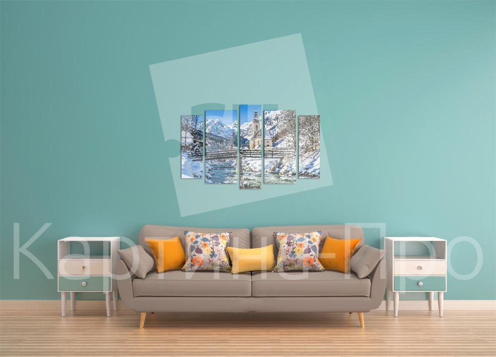 Модульная картина Горы в Зальцбурге от Kartina-Pro