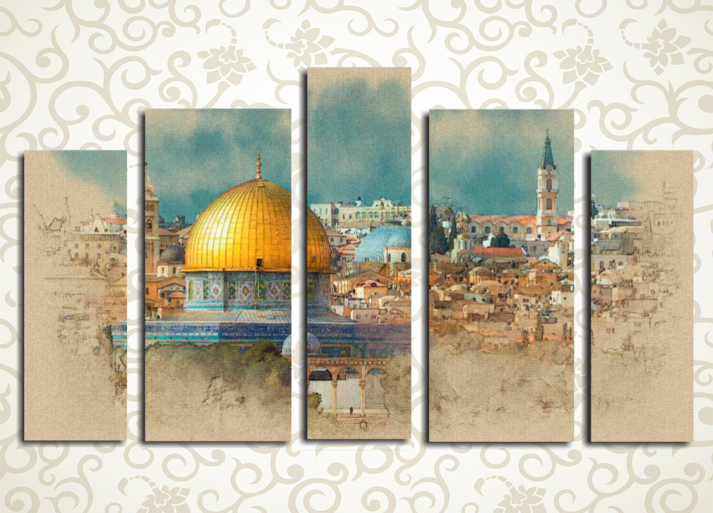 Модульная картина Вид на Иерусалим