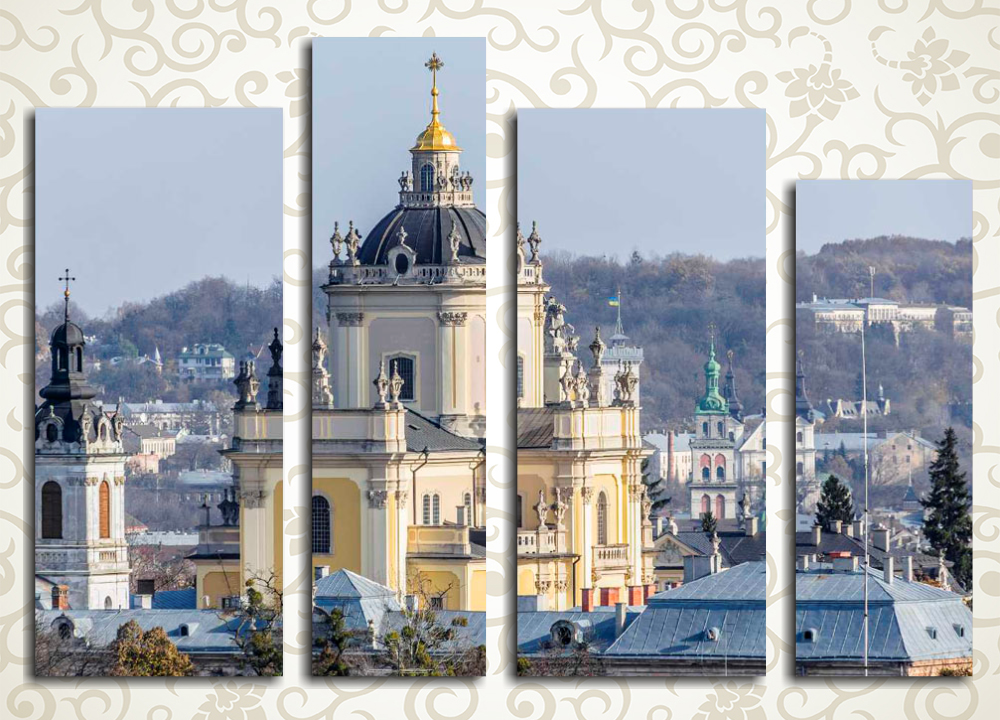 Модульная картина Красоты Львова