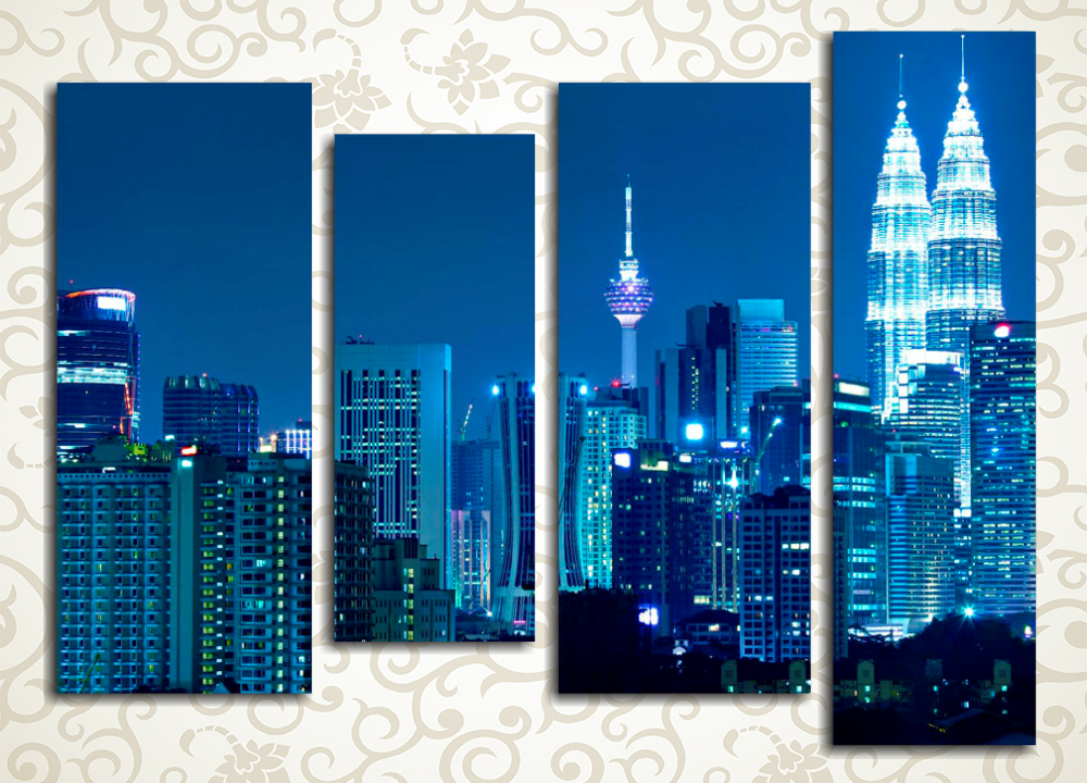 Модульная картина Небоскребы  Куала-Лумпур (Малайзия)