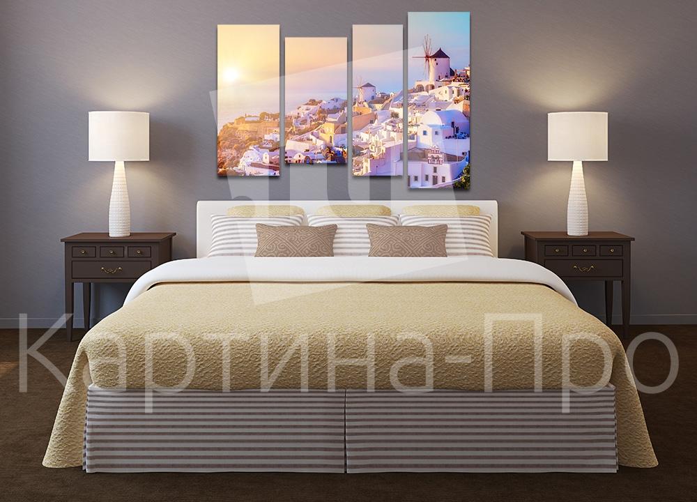 Модульная картина Рассвет на Санторини (Италия) от Kartina-Pro