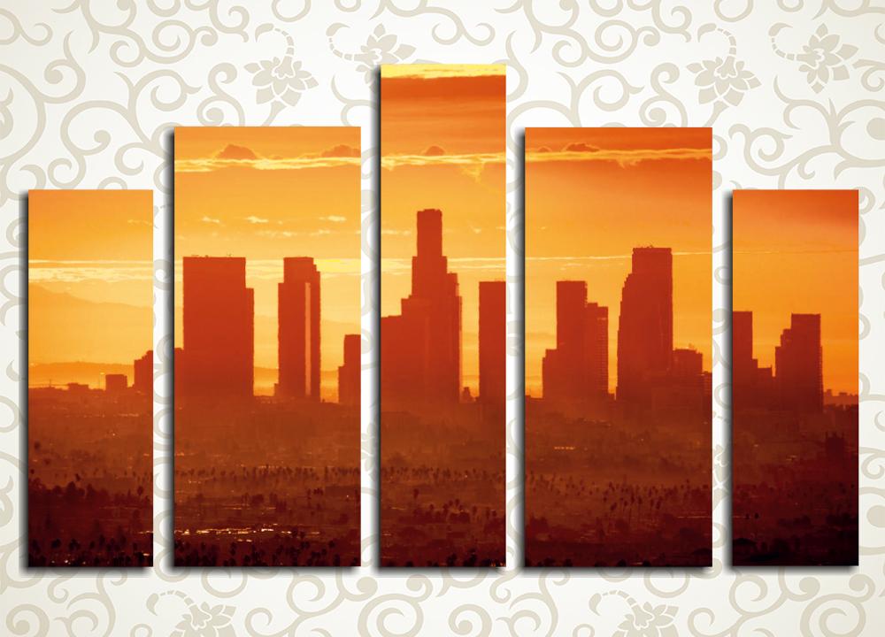 Модульная картина Закат в Лос-Анжелесе