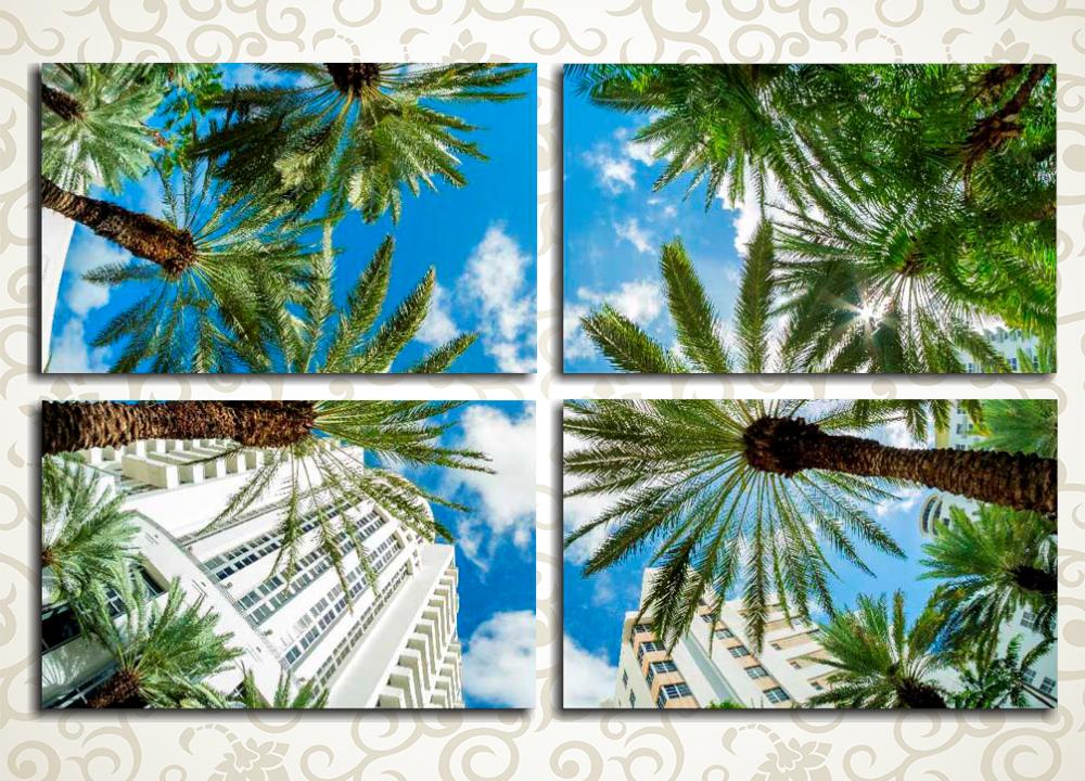Модульная картина Небо над Майами (США)