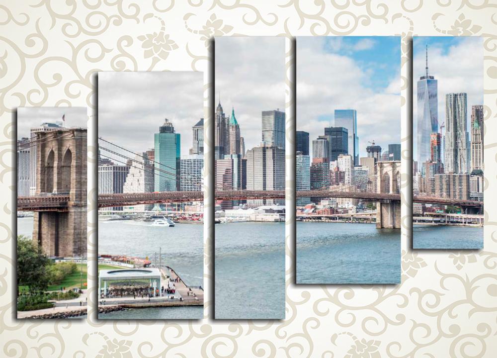 Модульная картина Небоскребы Манхеттена