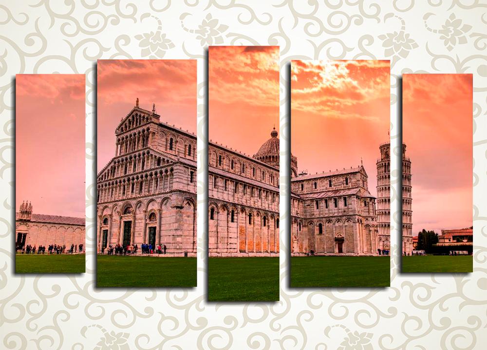 Модульная картина Рассвет над Пизой (Италия)