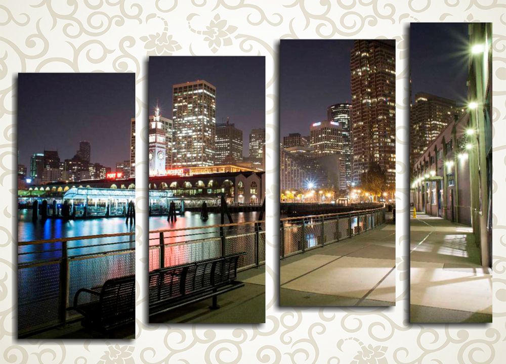 Модульная картина Вечерний Сан-Франциско (США)
