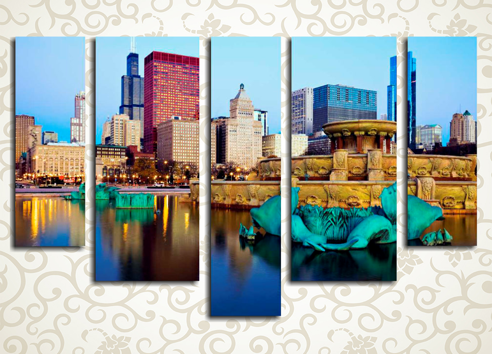 Модульная картина Чикаго