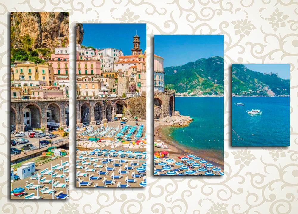 Модульная картина Пляж Амальфи (Италия)