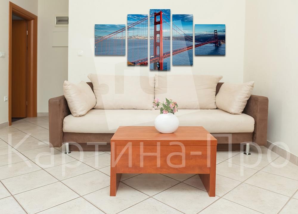 Модульная картина Мост Золотые ворота, Сан-Франциско от Kartina-Pro