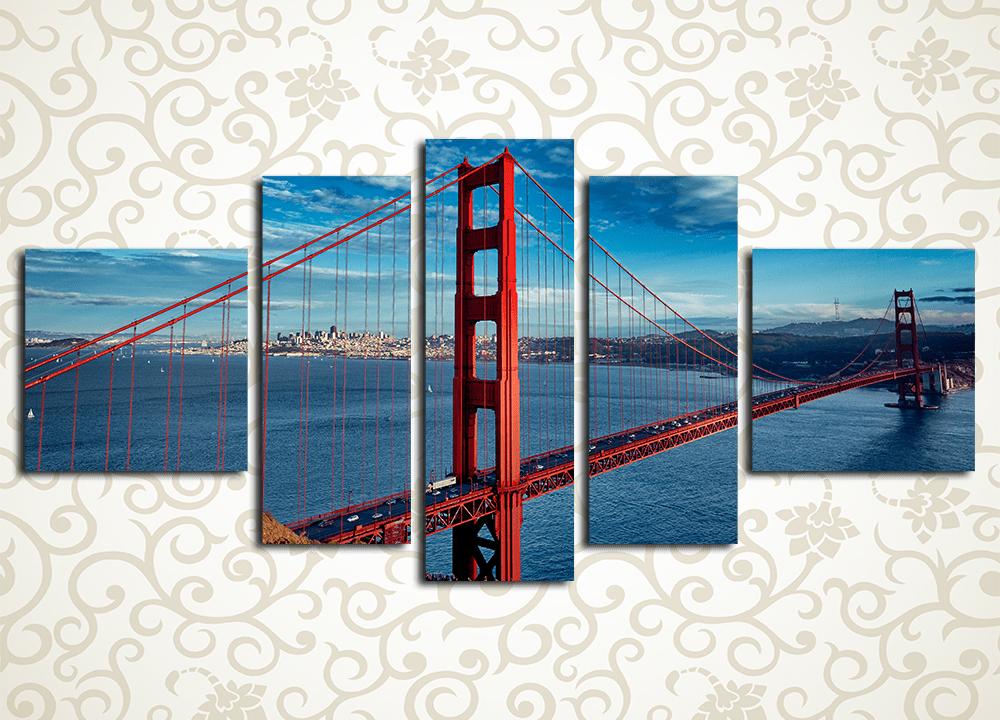 Модульная картина Мост Золотые ворота, Сан-Франциско