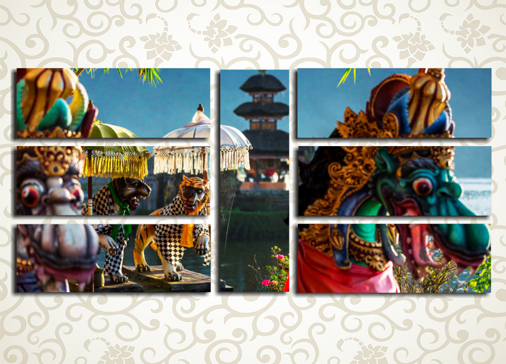 Модульная картина Бали, Индонезия