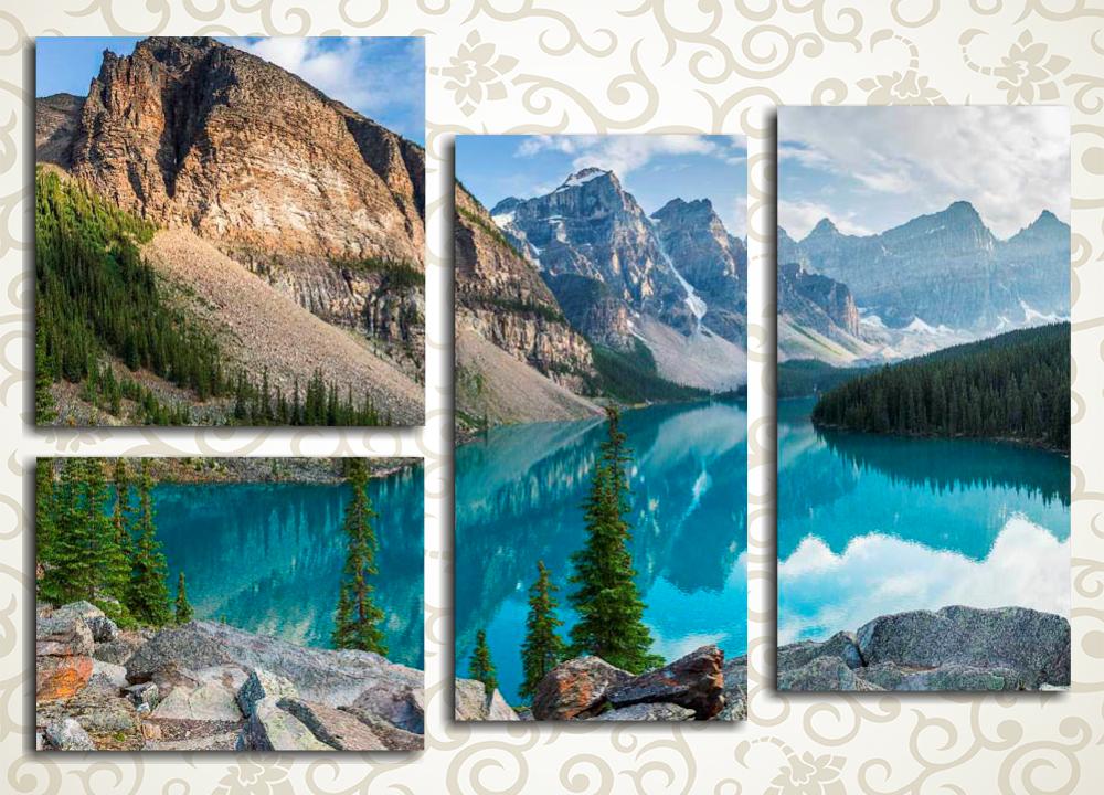 Модульная картина Великолепие горного озера