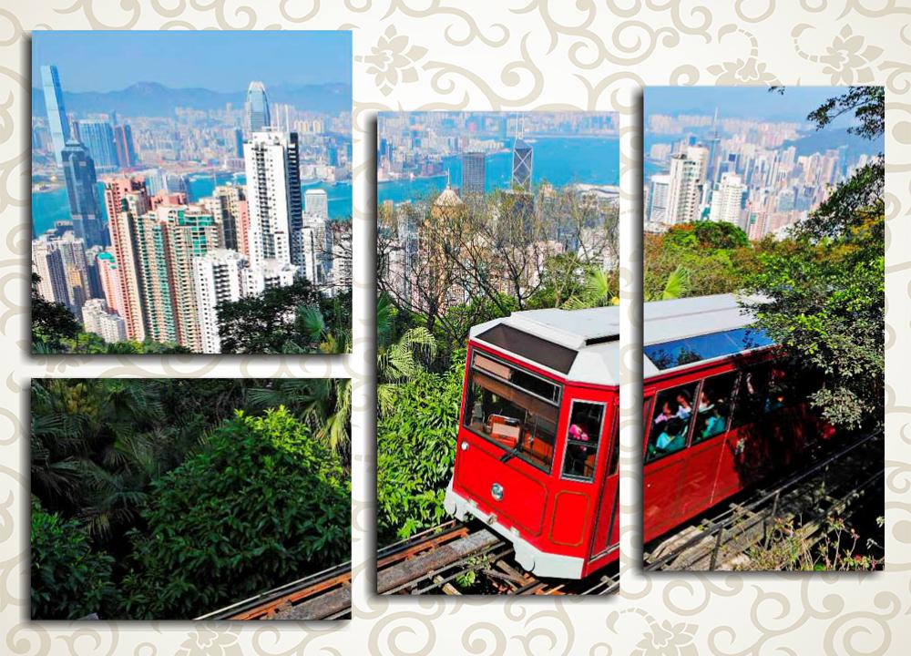 Модульная картина Красный трамвай
