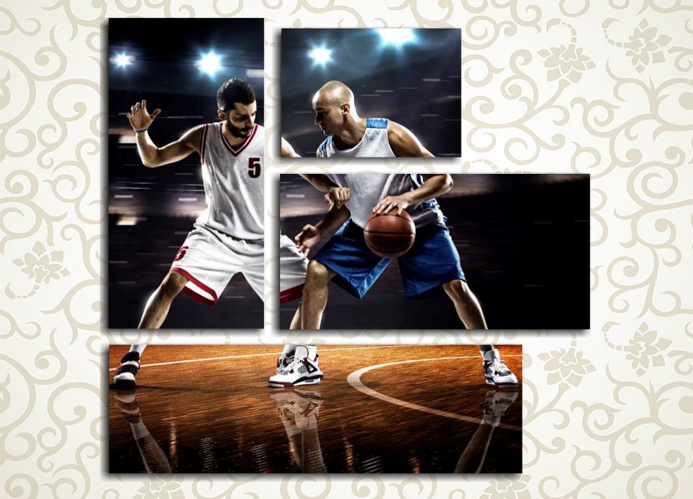 Модульная картина Баскетболисты