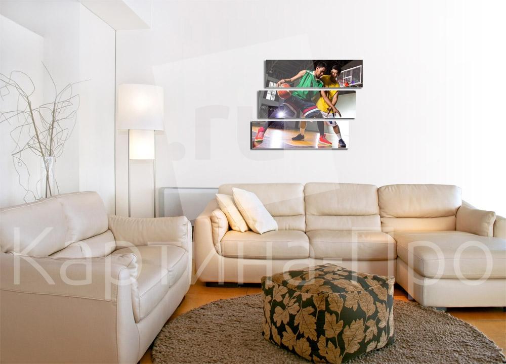 Модульная картина Игра в баскетбол от Kartina-Pro