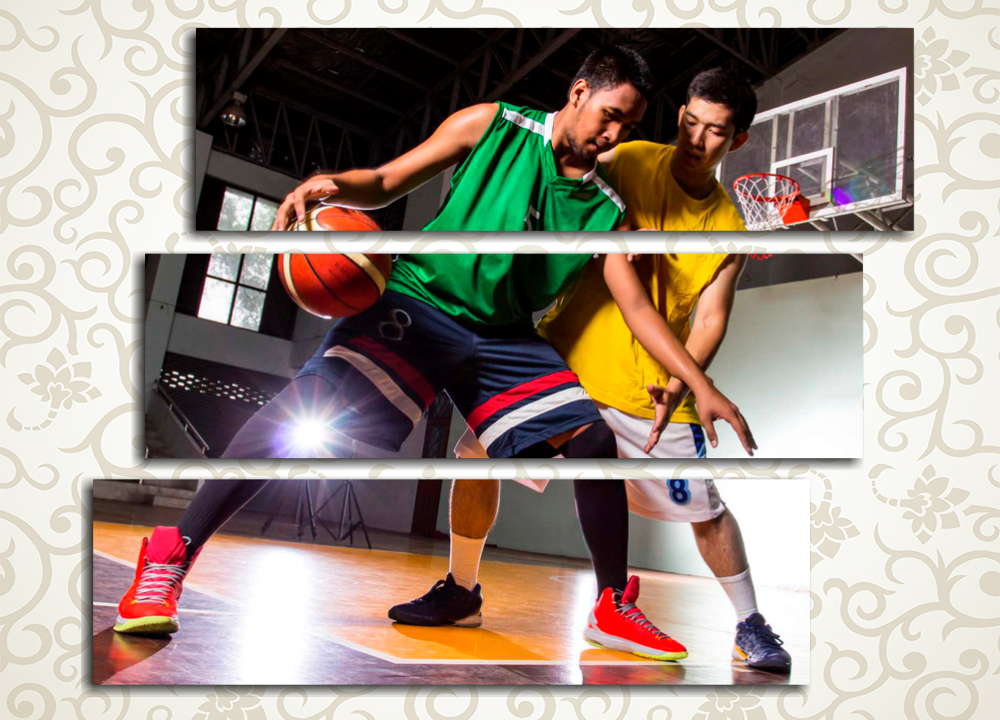 Модульная картина Игра в баскетбол