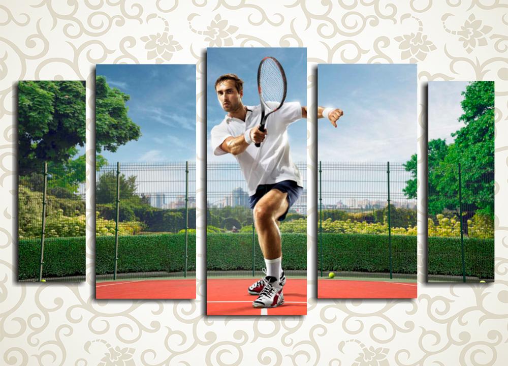 Модульная картина Теннисист