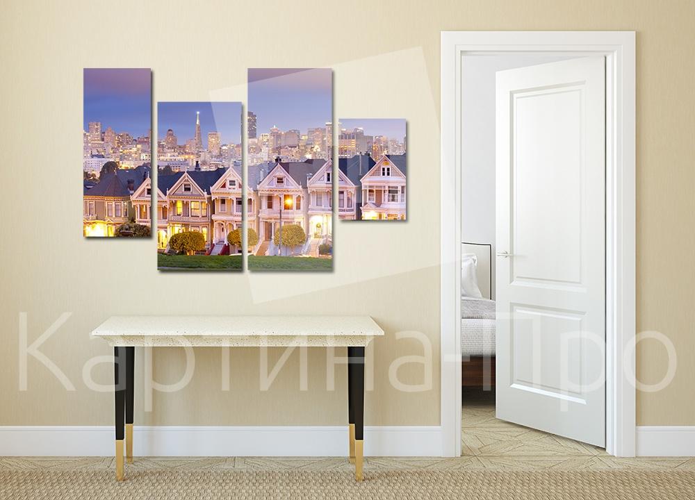 Модульная картина Парк Аламо Сквер в Сан-Франциско (США) от Kartina-Pro