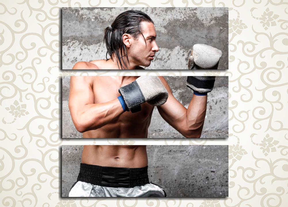 Модульная картина Харизматичный боксер