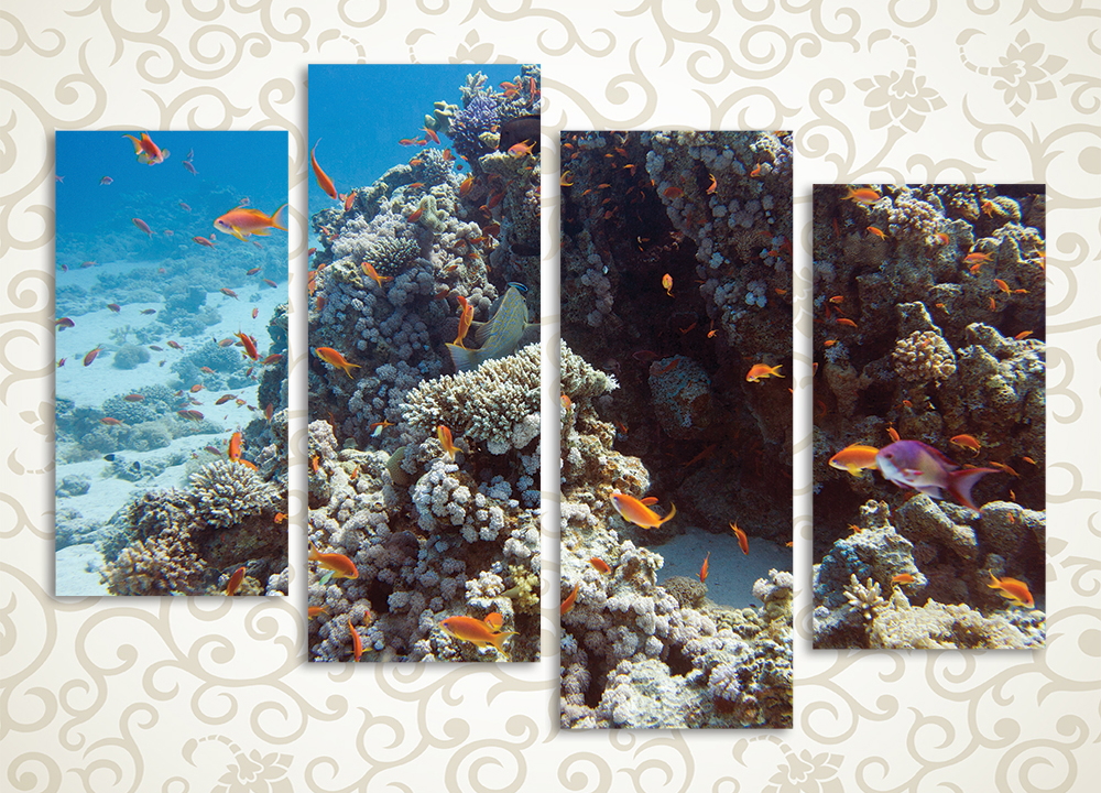 Модульная картина Коралловый риф